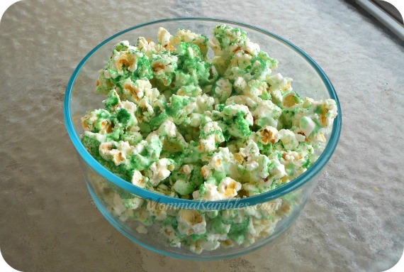 Lucky's Shamrock Popcorn Treat for St. Patrick's Day