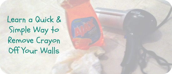 Simple way to remove crayon off walls tutorial maryland momma 39 s rambles - Remove crayon walls ...