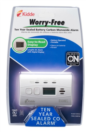Protect your family from hidden dangers with the Kidde Worry-Free CO Alarm