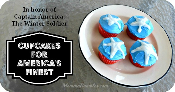 Bake Captain America Cupcakes in honor of America's Finest