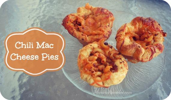 Chili Mac Cheese Pies make a delicious savory treat!
