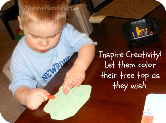 Earth Day Craft idea for a simple tree