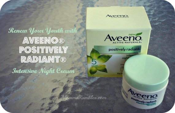 Renew Your Youth with AVEENO POSITIVELY RADIANT Intensive Night Cream