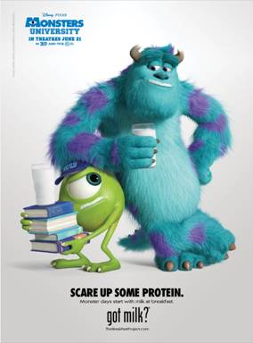 Got Milk? featurning Sully & Mike from Monsters University