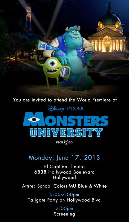I'm Going to Revisit My University Days... This Time in Hollywood at the Monsters University Premiere! ~ #MonstersUPremiere
