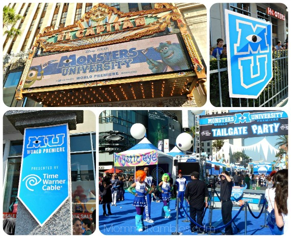 Monsters University World Premiere & Tailgate Fun at the El Capitan Theatre! ~ #MonstersUPremiere