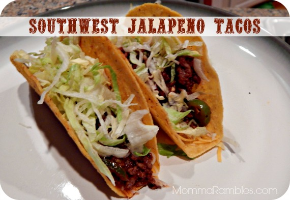 Southwest Jalapeno Tacos #Recipe ~ Inspired by The Lone Ranger + Featurettes