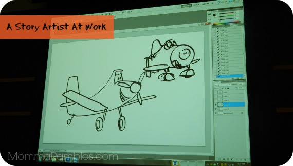 Drawing Life into Disney PLANES: Demonstration with Art Hernandez ~ #DisneyPlanesEvent