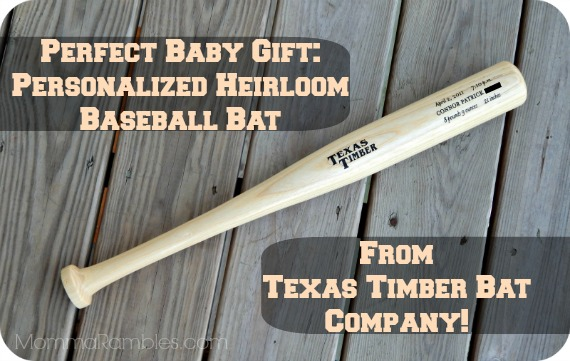Perfect Baby Gift: Personalized Heirloom #Baseball Bat from Texas Timber Bat Company! ~ #Review