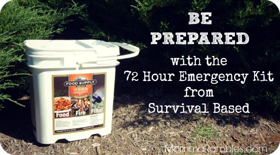 Be Prepared: 72 Hour Emergency Kit from SurvivalBased.com ~ #Review