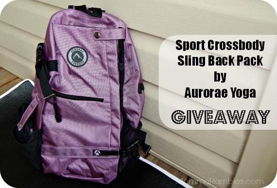 Win the Aurorae Yoga Sports Crossbody Sling Back Pack: 2 Winners ~ #OutburstMedia #Giveaway