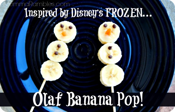 Simple Olaf Banana Pop as Inspired by Disney's Frozen ~ #DisneyFrozen