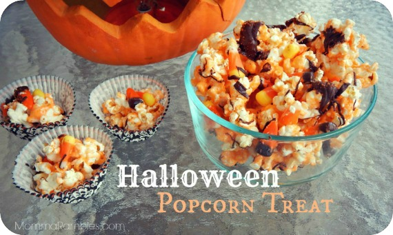 Halloween Popcorn Treat ~ A Deliciously Spooky #Recipe
