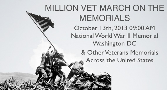 Million Vet March on the Memorials ~ October 13th #1MVetMarch