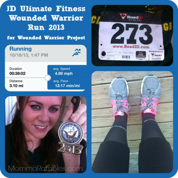 JD Ultimate Fitness Warrior Race for Wounded Warrior Project ~ My 5K Race Results