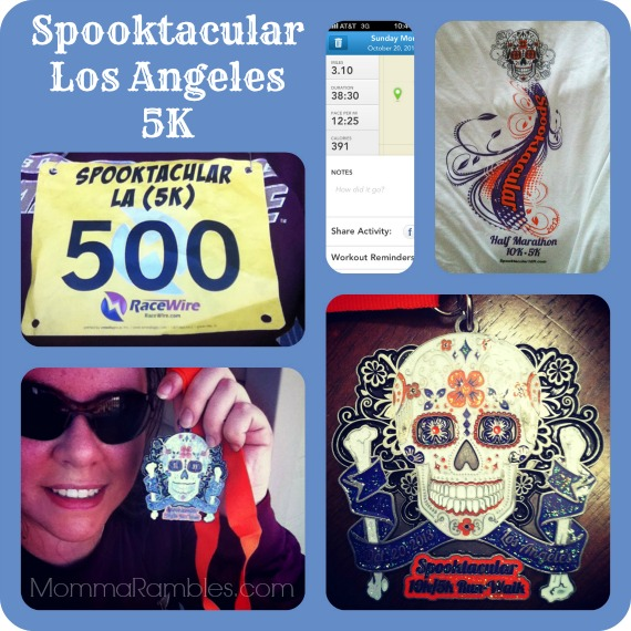 Spooktacular Los Angeles 5K/10K Run-Walk ~ My #Spooktacular5K Race Results