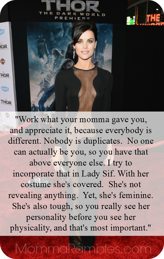 Jaimie Alexander Aims to Empower Women as the Warrior Lady Sif! ~ #ThorDarkWorldEvent