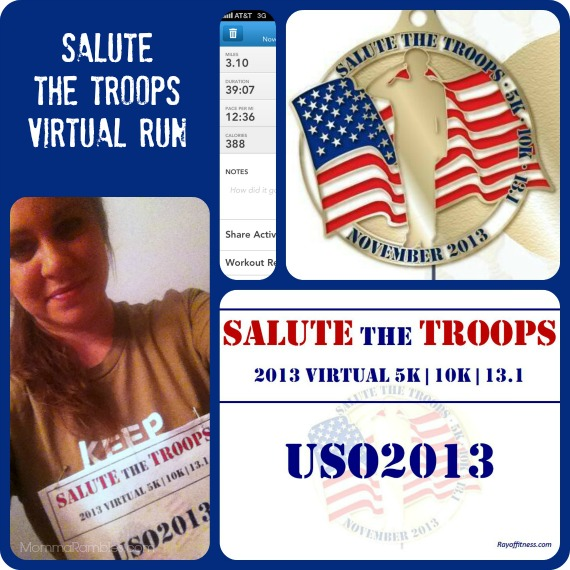 Salute the Troops for USO 2013 ~ My 5K Results