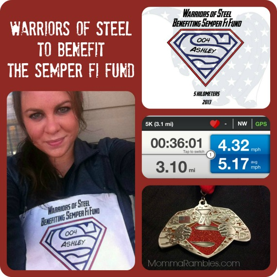 Warriors of Steel to Benefit the Semper Fi Fund ~ My 5K Race Results