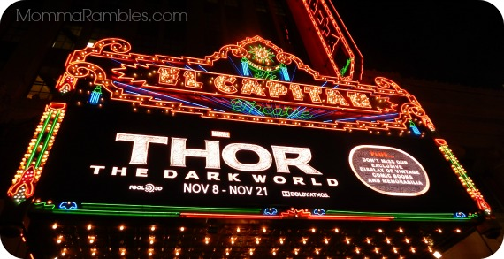 Thor: The Dark World Premiere at the El Capitan Theatre! + Top 5 Reasons to See #ThorDarkWorld ~ #ThorDarkWorldEvent