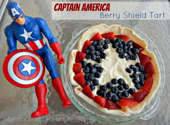 Captain America Berry Shield Tart ~ #Recipe In Honor of #CaptainAmerica: The Winter Solider