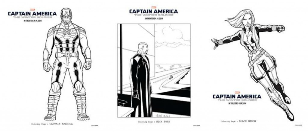Fun Coloring Sheets Featuring CAPTAIN AMERICA: THE WINTER SOLIDER ~ #CaptainAmerica #CaptainAmericaEvent