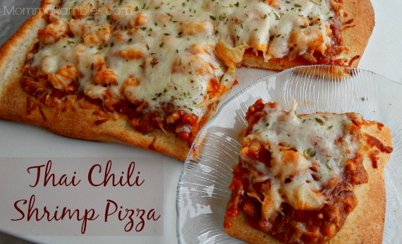 Thai Chili Shrimp Pizza ~ #Recipe
