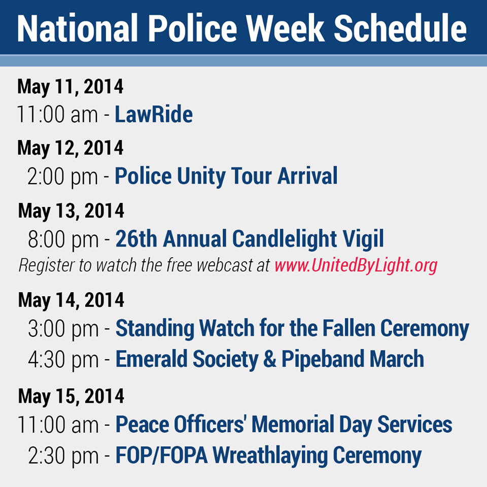 National Police Week 2014 ~ May 11th - May 17th! #PoliceWeek