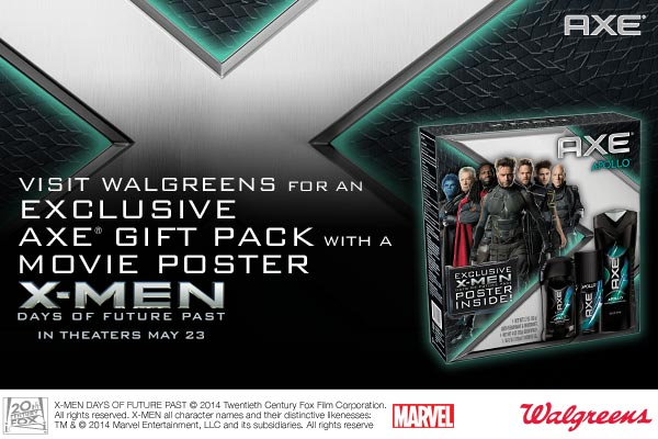 Grab the Exclusive X-Men: Days of Future Past Axe Gift Pack Only at Walgreens