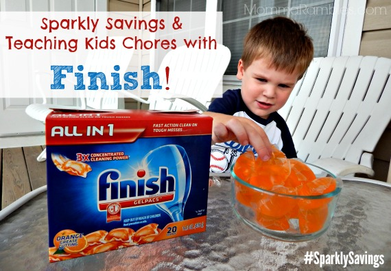 Sparkly Savings & Teaching Kids Chores with Finish! + Printable Chore Chart ~ #SparklySavings #CollectiveBias #shop