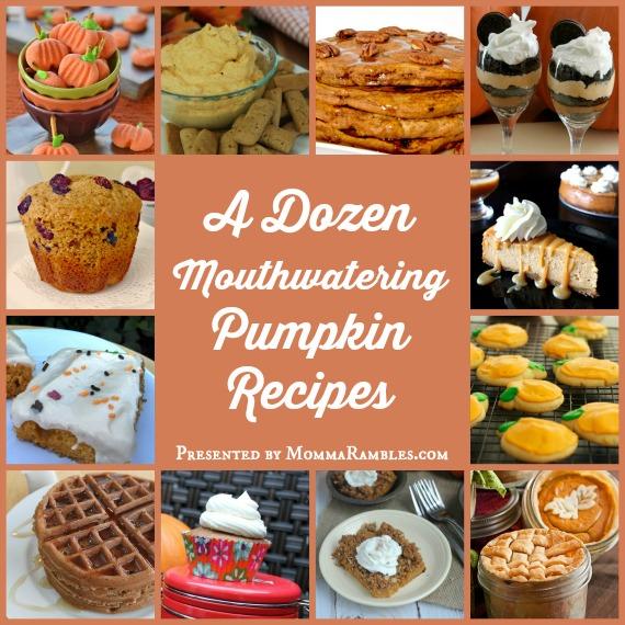 A Dozen Mouthwatering Pumpkin Recipes! ~ Perfect for #Fall