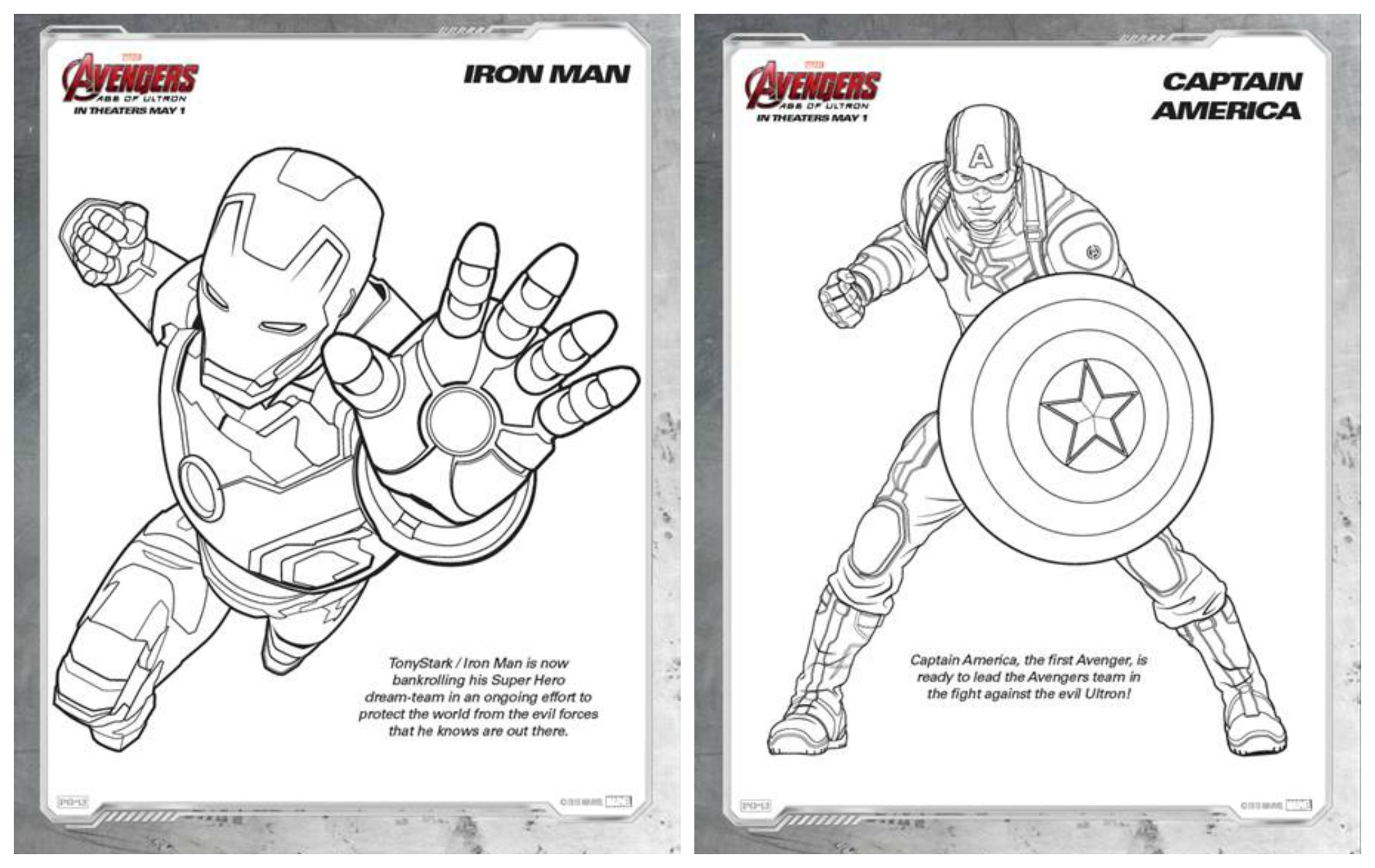 Marvel's #AVENGERS: AGE OF ULTRON Coloring Sheets ~
