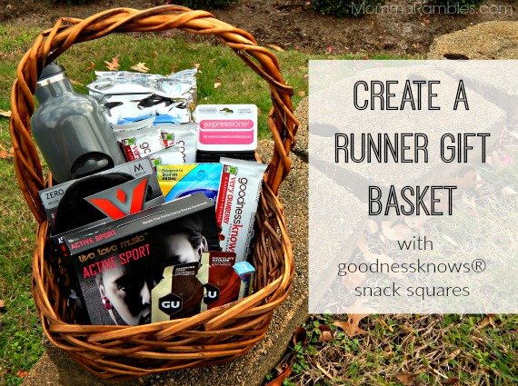 Create A Runner Gift Basket With GoodnessknowsR Snack Squares TryALittleGoodness Ad