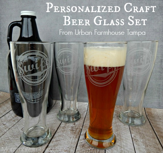 personalized craft beer glass set from urban farmhouse. Black Bedroom Furniture Sets. Home Design Ideas