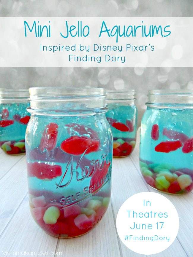 Mini Jello Aquariums Inspired by Disney Pixars #FindingDory