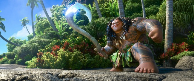 """MAUI is a demigod—half god, half mortal, all awesome. Featuring Dwayne Johnson as the voice of Maui, Walt Disney Animation Studios' """"Moana"""" sails into U.S. theaters on Nov. 23, 2016. ©2016 Disney. All Rights Reserved."""