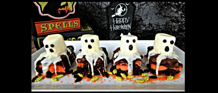 Halloween Ghost Brownies #Recipe