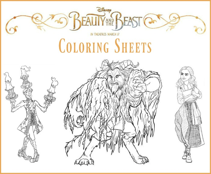 Disneys BEAUTY AND THE BEAST Coloring Sheets BeOurGuest