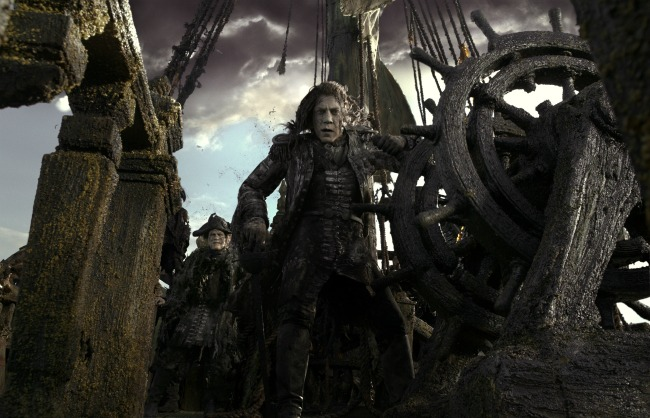 """PIRATES OF THE CARIBBEAN: DEAD MEN TELL NO TALES"" The villainous Captain Salazar (Javier Bardem) pursues Jack Sparrow (Johnny Depp) as he searches for the trident used by Poseidon. Ph: Film Frame ©Disney Enterprises, Inc. All Rights Reserved."