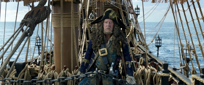 """PIRATES OF THE CARIBBEAN: DEAD MEN TELL NO TALES"" The villainous Captain Salazar (Javier Bardem) pursues Jack Sparrow (Johnny Depp) as he searches for the trident used by Poseidon Ph: Film Frame ©Disney Enterprises, Inc. All Rights Reserved."
