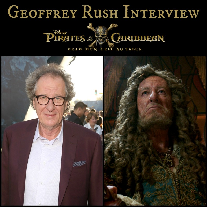 80a600ea6ac90 PIRATES OF THE CARIBBEAN  DEAD MEN TELL NO TALES Geoffrey Rush Interview ~   PiratesLifeEvent