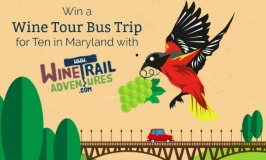 Win a #Wine Tour Bus Trip for TEN in #Maryland with Wine Trail Adventures!
