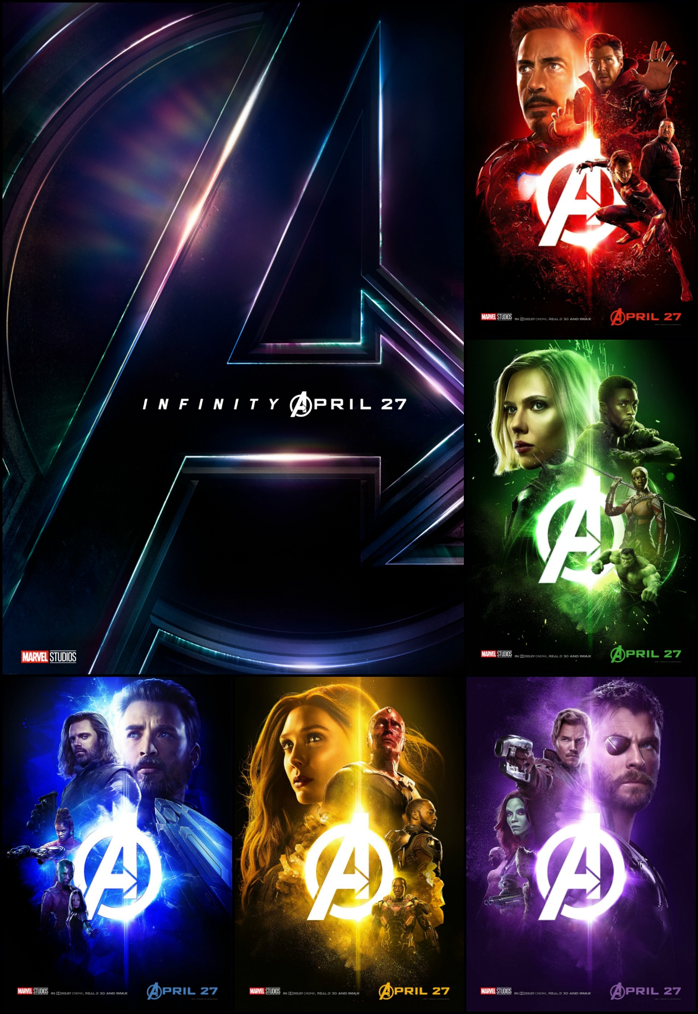 new* character posters from marvel studios' avengers: infinity war