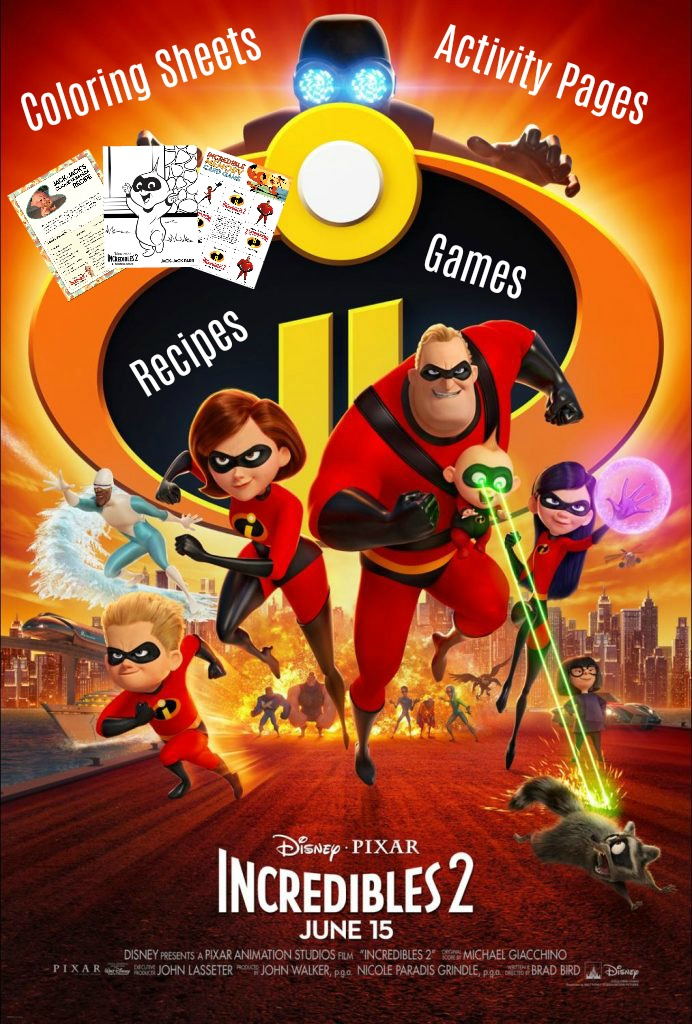 Disney Pixar S Incredibles 2 Coloring Pages Activity Sheets