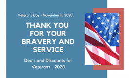 Deals & Discounts for Veterans Day 2020